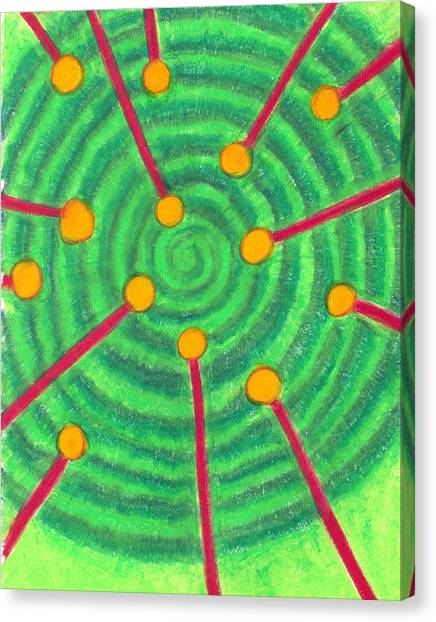 Laser Points On The Spiral Path Canvas Print
