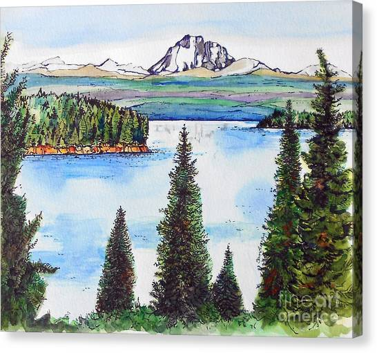 Lassen And Almanor Canvas Print
