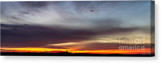 Last 2012 Sunrise Panoramic Canvas Print