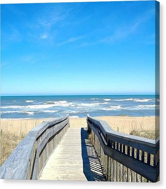 Mac Canvas Print - Last Day Of March! #beach  #obx by Erin Mac