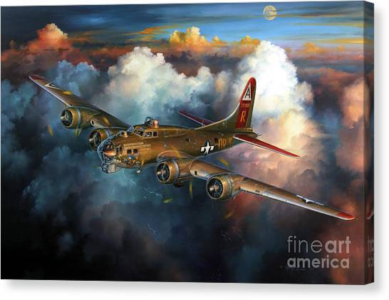 Bombs Canvas Print - Last Flight For Nine-o-nine by Randy Green