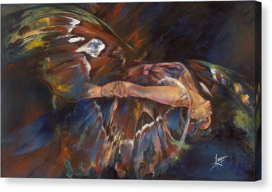 Acrobatic Canvas Print - Last Flight by Karina Llergo