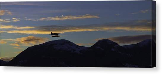 Last Flight Of The Day. Canvas Print