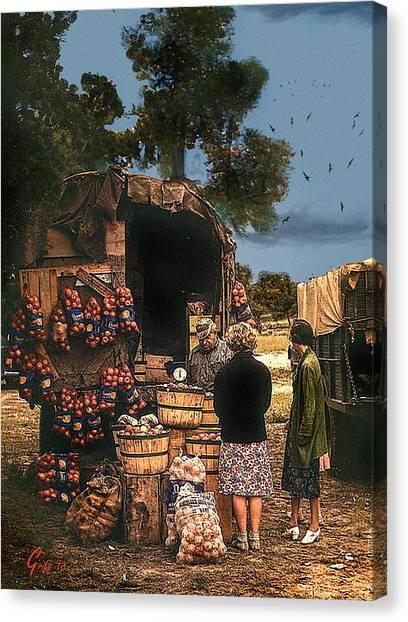 Last Fruit Wagon Of The Season Canvas Print