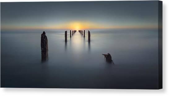 Dock Canvas Print - Last Light by Nadav Jonas