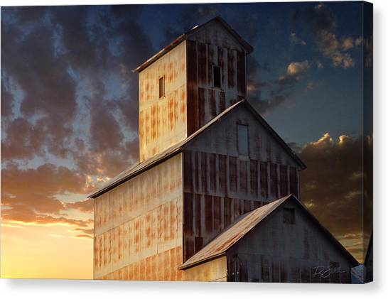 Last Light On Burns Elevator Canvas Print