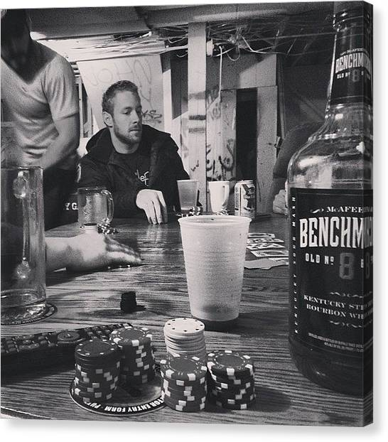Whiskey Canvas Print - Last Night In The Dale With The Homies by Michael Becht