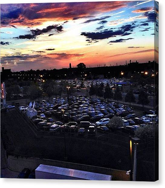 Hawks Canvas Print - Last Nights Sunset, Looking Out The by Michael Becht