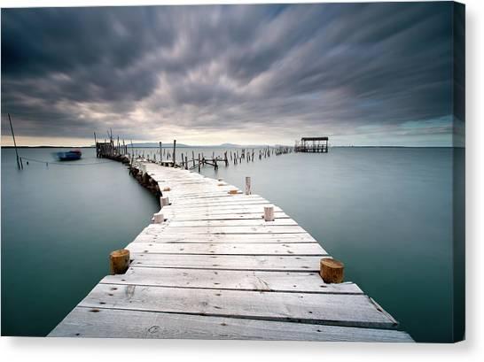 Pier Canvas Print - Last Path by Jorge Feteira