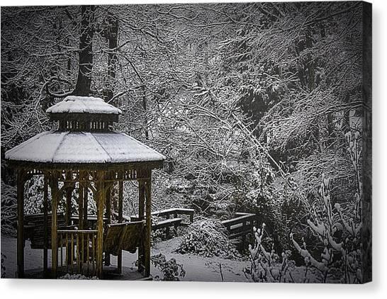 Last Snow Canvas Print by Barry Jones