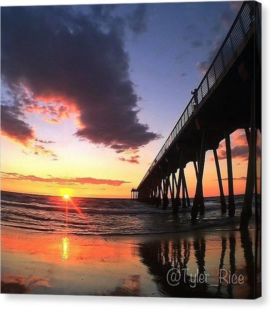 Seashells Canvas Print - Last Sunday Sunset Of 2012 by Tyler Rice