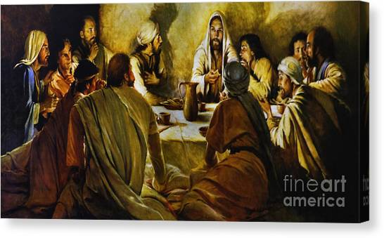 Last Supper Reproduction Canvas Print