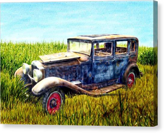 Last Tour For An Old Ford Touring Car Canvas Print