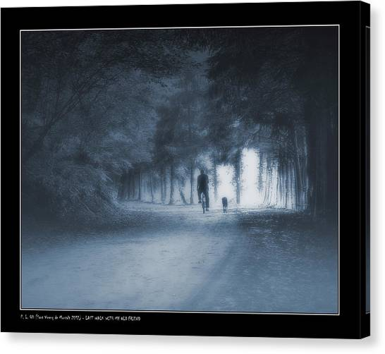 Last Walk With My Old Friend Canvas Print