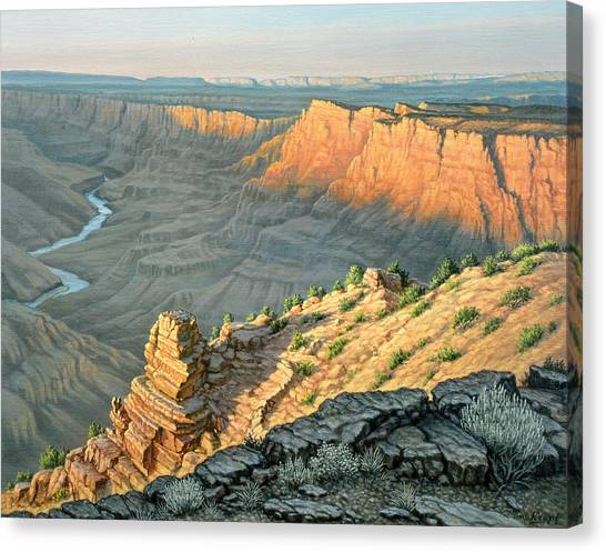 Canyons Canvas Print - Late Afternoon-desert View by Paul Krapf