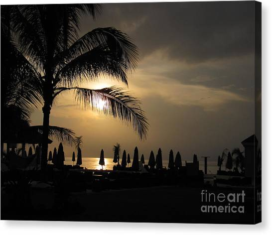 Late Afternoon In Mobay Canvas Print by Addie Hocynec