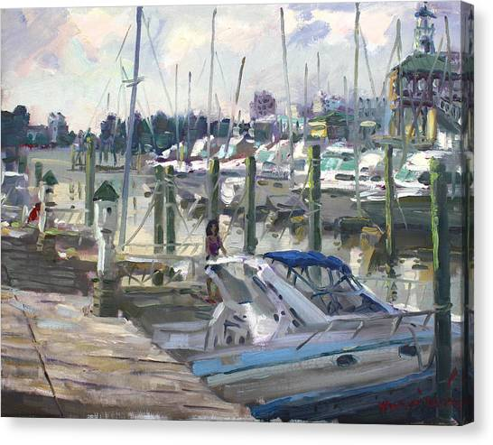 Harbor Canvas Print - Late Afternoon In Virginia Harbor by Ylli Haruni
