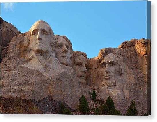 Mount Rushmore Canvas Print - Late Afternoon, Mount Rushmore National by Michel Hersen