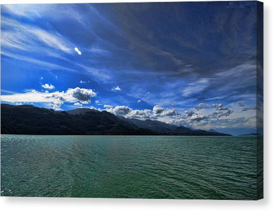 Late Afternoon On Harrison Lake Bc Canvas Print