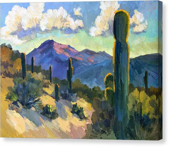 Plein Air Canvas Print - Late Afternoon Tucson by Diane McClary