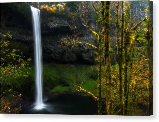 Late Autumn At Silver Falls Canvas Print