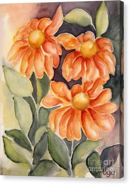 Late Autumn Flowers Canvas Print
