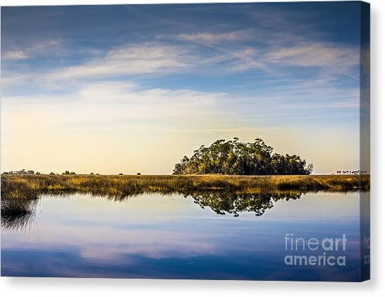 Marsh Grass Canvas Print - Late Day Hammock by Marvin Spates