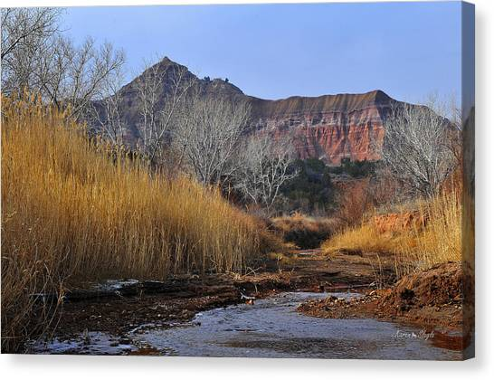 Late Fall In Palo Duro Canyon Canvas Print