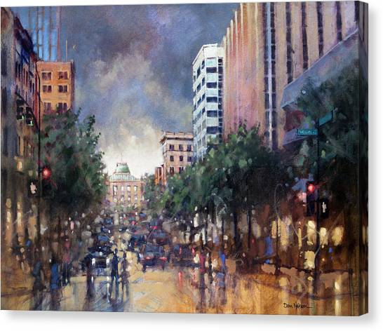 Late Friday Afternoon Showers Canvas Print