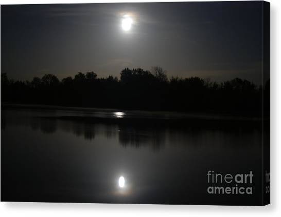 Late Night At The Lake Canvas Print