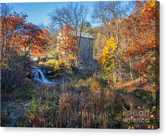 Late October At Pickwick Mill II Canvas Print