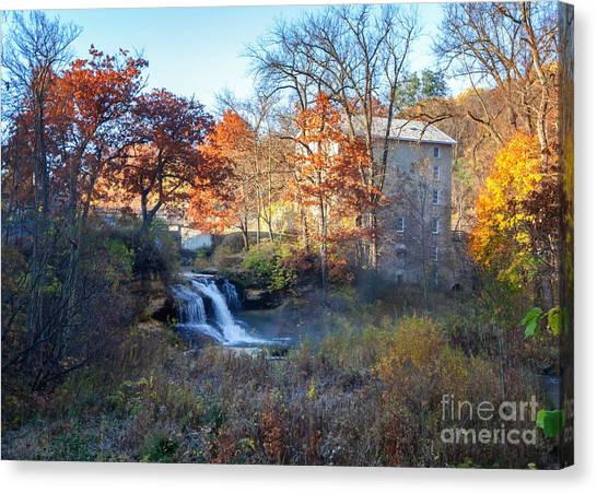 Late October At Pickwick Mill Canvas Print