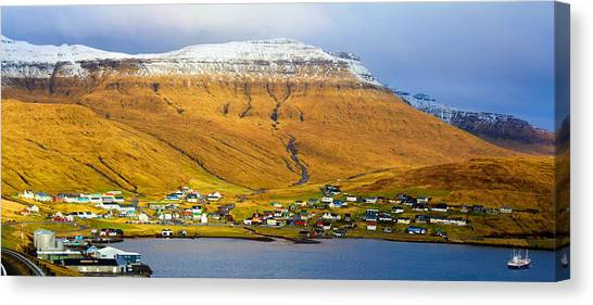 Late Spring In Faroe Islands Panorama Canvas Print