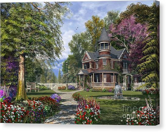 Victorian Garden Canvas Print - Late Summer Garden by MGL Meiklejohn Graphics Licensing