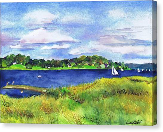 Late Summer Marsh Oyster Bay Canvas Print