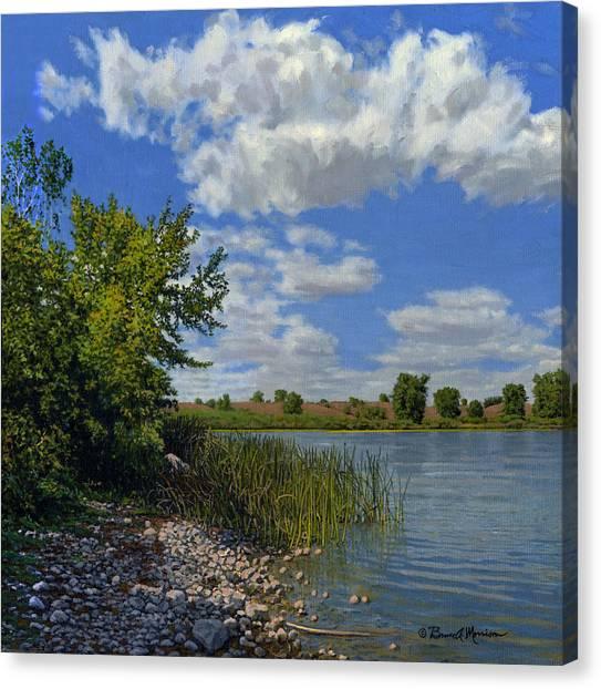 Late Summer On Lower Gar Canvas Print