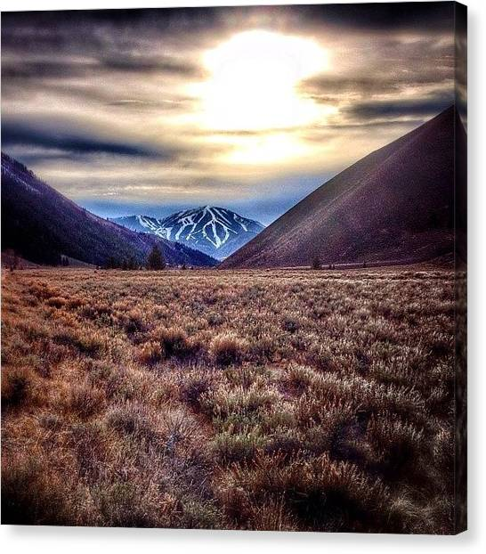Idaho Canvas Print - #latefall #baldy #sunvalley #idaho by Cody Haskell