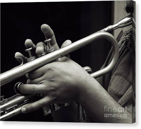 Latin Trumpet Canvas Print