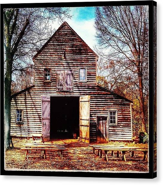 Racism Canvas Print - #lattaplantation, In #charlotte. A Barn by Toni Lovejoy
