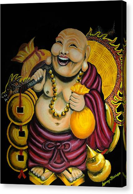 Laughing Buddha For Prosperity Canvas Print