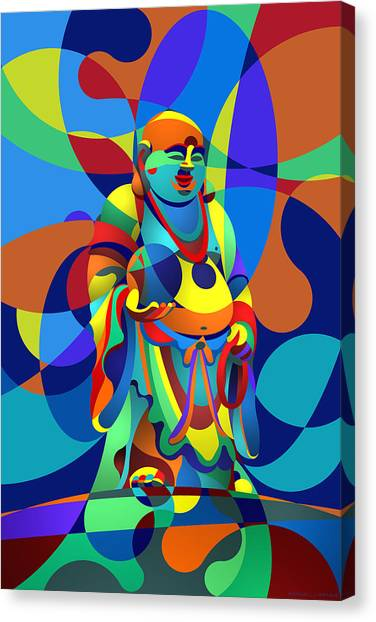 Laughing Buddha Canvas Print
