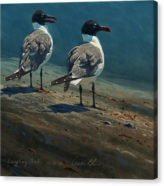 Sea Bird Canvas Print - Laughing Gulls by Aaron Blaise