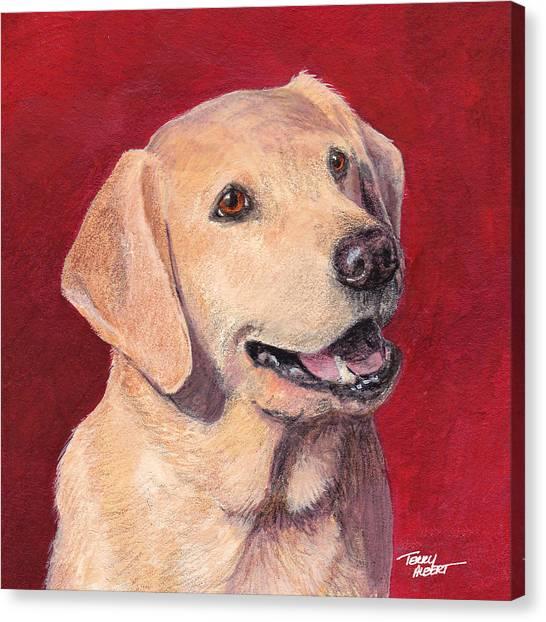 Laughing Labrador Canvas Print