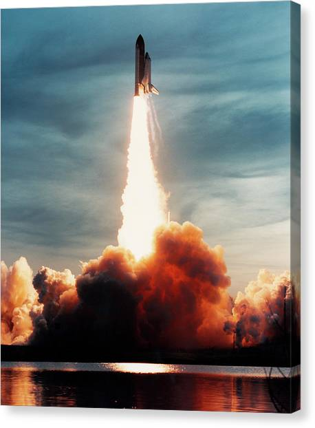 Space Shuttle Canvas Print - Launch Of Discovery by Nasa/science Photo Library