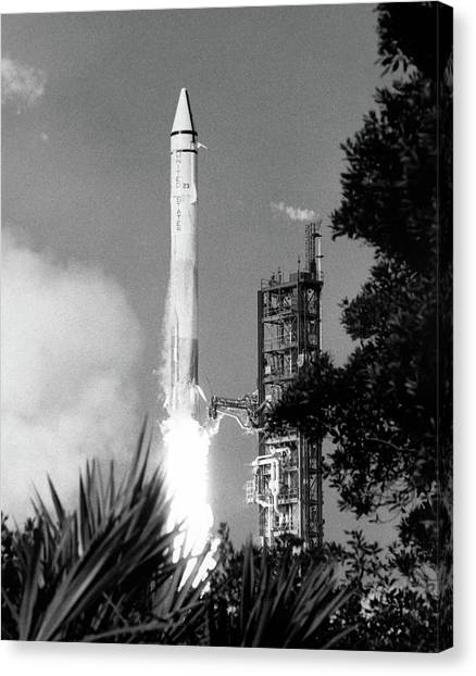 Centaurs Canvas Print - Launch Of Mariner 9 by Nasa/ksc/science Photo Library