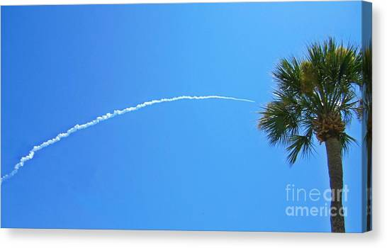 Missles Canvas Print - Launch Of The Juno Rocket by Crystal Loppie