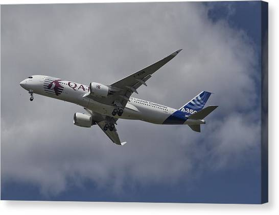 Launching Airbus A350 Canvas Print