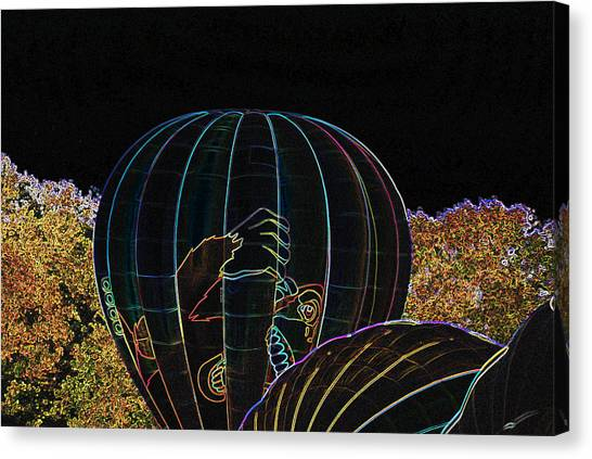 Launching King Kong - Neon Canvas Print