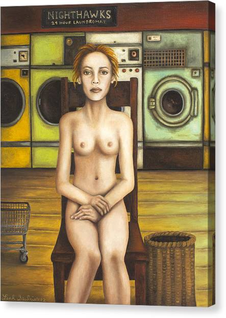 Nipples Canvas Print - Laundry Day 5 by Leah Saulnier The Painting Maniac
