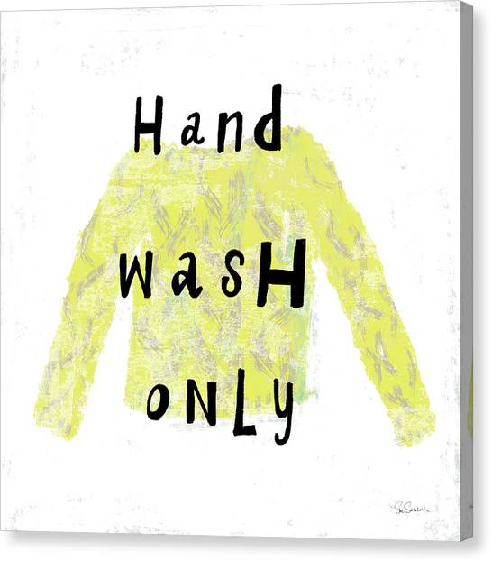 Instructions Canvas Print - Laundry Rules Iv by Sue Schlabach